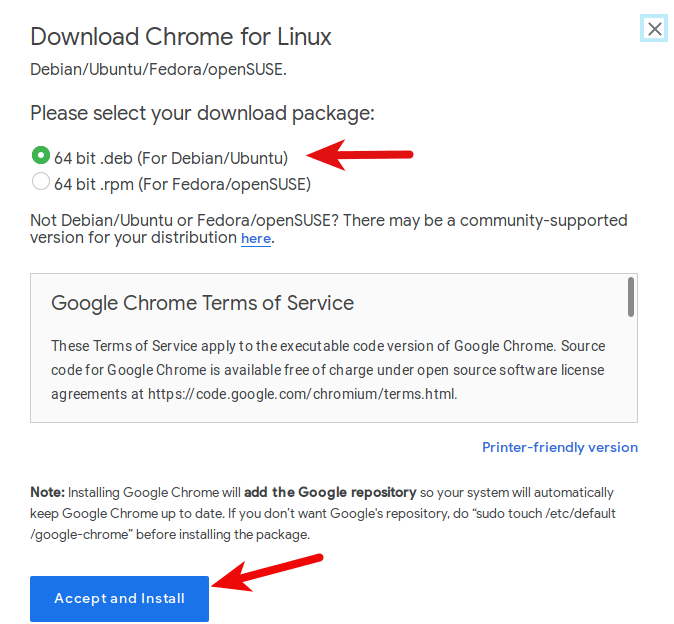 install google chrome on ubuntu 19.04