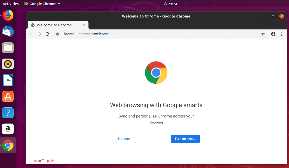start google chrome on ubuntu